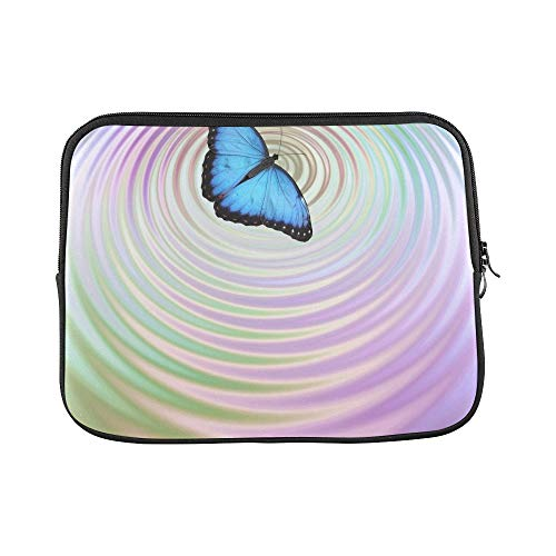 - Design Custom Butterfly Effect Big Blue Butterfly Appearing Sleeve Soft Laptop Case Bag Pouch Skin for MacBook Air 11