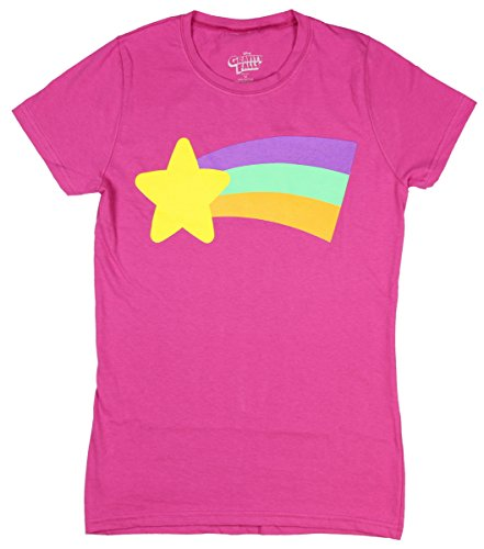 Disney Gravity Falls Juniors Mabel Rainbow T-Shirt (Large)