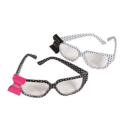Polk-A-Dot Nerd Glasses with Bow, 1 per Order, No Color Choice (Glasses Bow With)