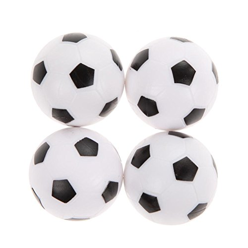 4Pcs 36mm Foosball White and Black - 2