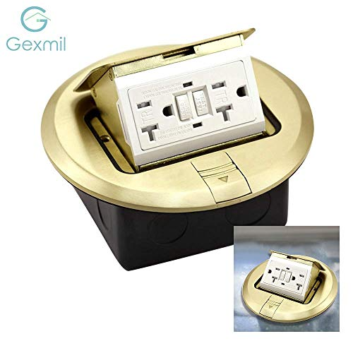 (UL Listed) Gexmil Multi-Application Electrical Floor Outlet Boxes Brass Cover with Cast-iron Junction box