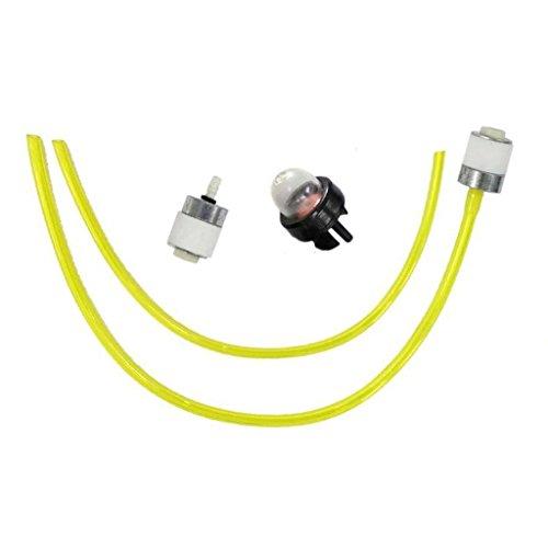 HURI Fuel Line Fuel Filter Primer Bulb for Bolens BL41021BK410G163 BL41021AK410G163 BL41021A-121R965 Tiller BL10041AD100G763 BL10041AD100G965 String Trimmer