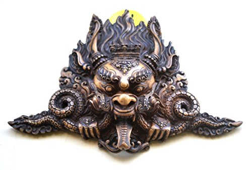 CraftVatika Dragon Mask, Vintage Rare Wall Hanging Shiva Mahakala Mask, Home Art Deco India Wall Art ()