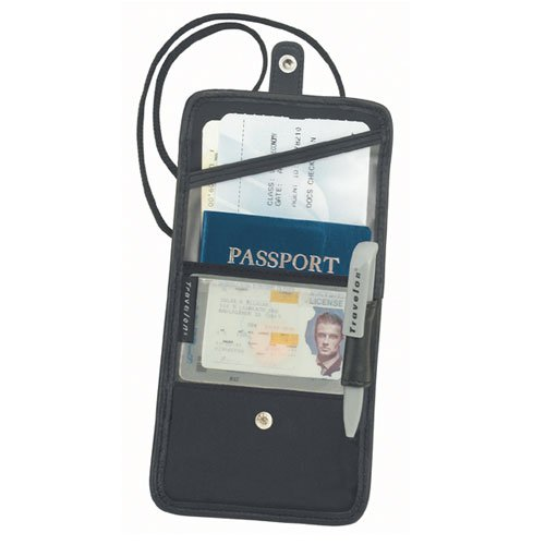 Travelon ID and Boarding Pass Passport Holder with Snap Closure 62505-0000-00
