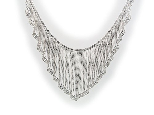 Silk Curtain Collar Necklace in Sterling Silver by Fronay Collection