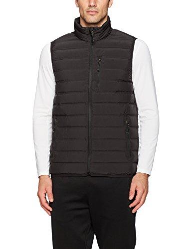 White Sierra Men's Summit No-Sew Down Vest, Black, X-Large