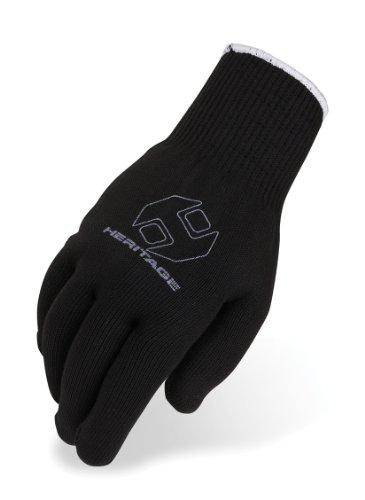 (Heritage ProGrip Roping Gloves (12 Pack), Size 8, Black)