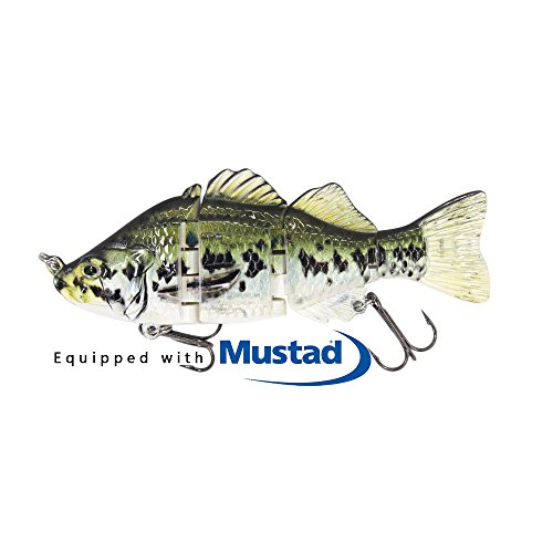 Swimbaits for Bass Glide Baits For Bass Fishing Lures Crankbait Jointed Trout Swimbait With Mustad Hooks(S-4)