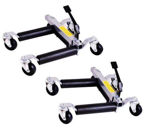 Rison® 2pc 1500lb HYDRAULIC Positioning Car Wheel Dolly Jack Lift hoists Moving Vehicle by Rison® (Image #5)