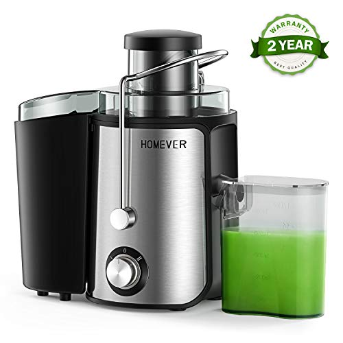 Homever Juicer for Fruits and Vegetables, Centrifugal Juicer with Juice Cup, Wide Mouth Juice Machine, BPA-Free Stainless Steel 2 High Speed Juicer, Easy to Clean, Dishwasher Safe, Anti-slip Function (Juicer Baby)