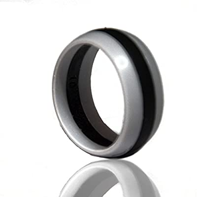 Men's Silicone Wedding Band. Safe and Durable Silicone Wedding Ring for the Active Lifestyle.