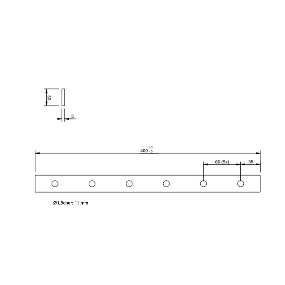 Flachverbinder 400 X 30 X 5 mm Stahl verzinkt 1 St/ück