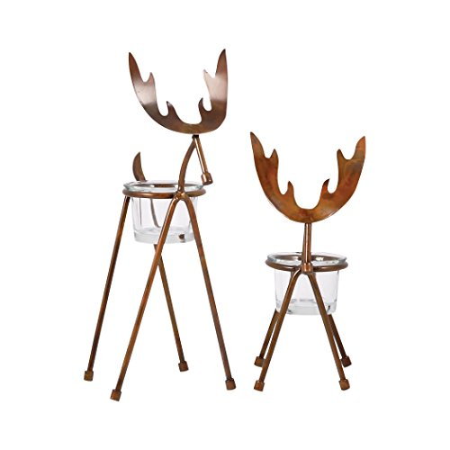 Traditional Décor Collection Moose Set of 2 Votives