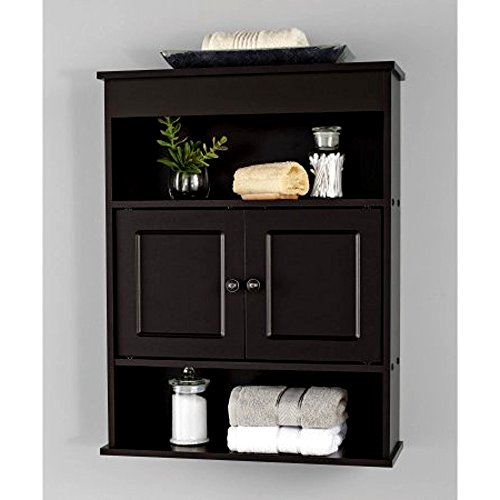 Narrow Bathroom Shelf Stand Cabinet Espresso Vanity Cabinet Enclosed Shelves For Towels