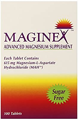 MAGINEX Magnesium Mineral Supplements, 100 Count