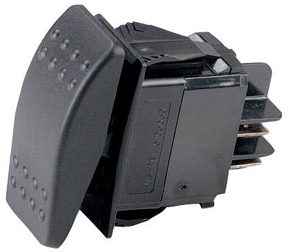 Ancor 554033 Marine Grade Electrical Sealed Rocker Switch (Double Pole/Double Throw, Constant On/Constant Off/Constant On)