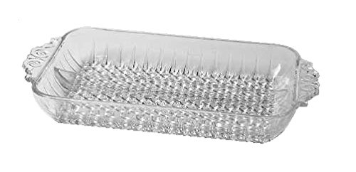 Anchor Hocking Hobnail Clear Glass ( 2-Part Relish Dish ) ()