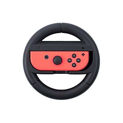 Insten Joy-Con Protective Steering Wheel Grip for Nintendo Switch, [Extra Protection] Joy Con Left/Right Controller for Nintendo Switch Console