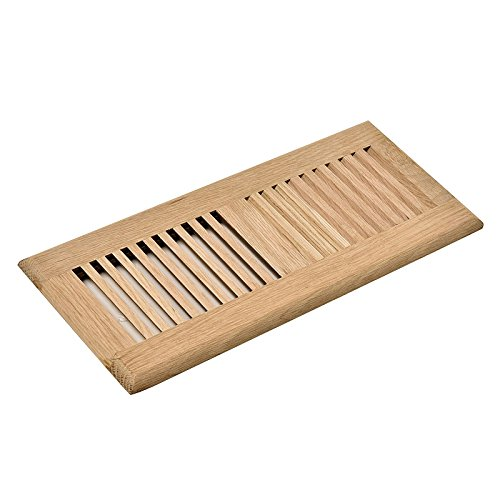 - WELLAND Hardwood Self Rimming Floor Register Vent Unfinished with Damper, 6 inch x 12 inch, White Oak