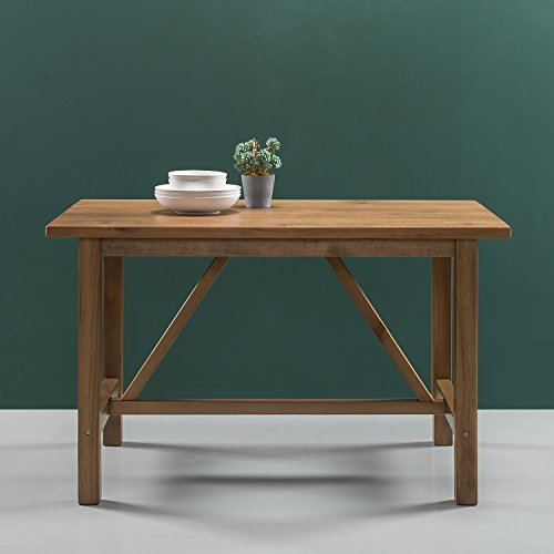 Trestle Farm Table - Zinus Brandon Detailed Dining Table in Natural Finish