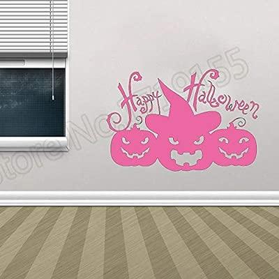 Etiqueta engomada de la pared de la calabaza de Halloween ...