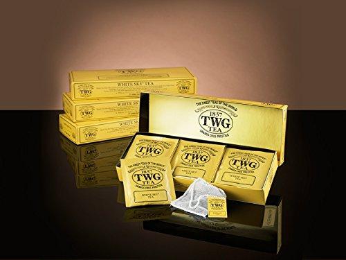 TWG Singapore - The Finest Teas of the World - WHITE SKY - 15 sachets de thé de pur coton cousu á main