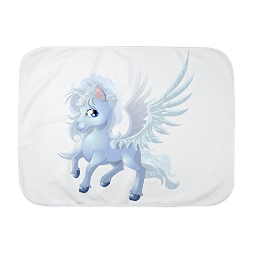 Truly Teague Baby Blanket White Cartoon White Winged Pegasus by Truly Teague