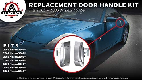 Amazon Com Replacement Exterior Door Handle Kit Replaces 80607 Cd41e 80606 Cd01e Compatible With Nissan 350z 2003 2004 2005 2006 2007 2008 2009 Driver And Passenger Side Year Model 03 09 Home Improvement