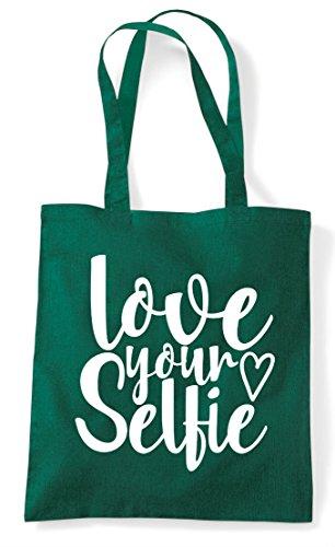 Love Green Statement Your Shopper Tote Selfie Bag Dark na6f1n