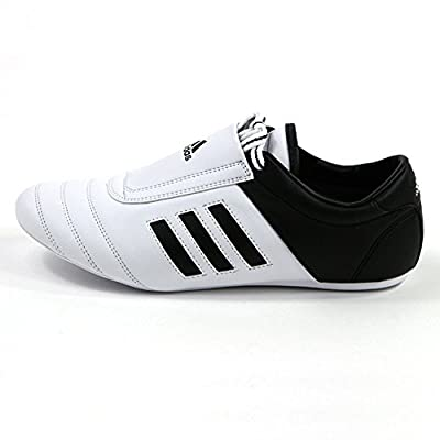 adidas® KICK Shoes Martial Arts Sneaker White with Black Stripes