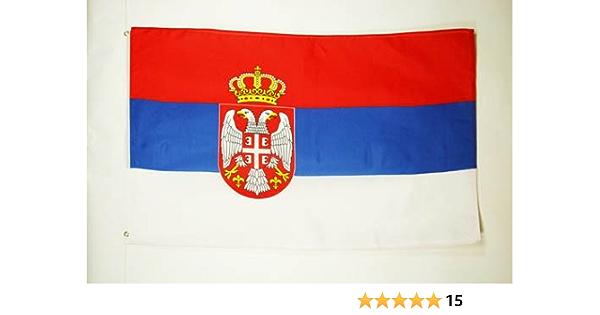 AZ FLAG Bandera de Serbia 90x60cm - Bandera Serbia 60 x 90 cm: Amazon.es: Hogar