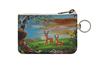 Elusive and Premium Zip ID Case/Key Wallet/Credit Card Case Coins Purse with ID Window/Cute ID Holder/Badge Clips (Dear)