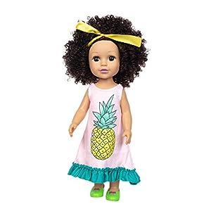 13.7 inch cute curly hair baby toy, lifelike fashion doll, preschool toy doll, children's snack time friends, preschool…