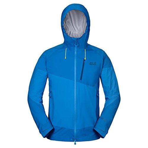 Jack Wolfskin Herren Besonders leichte, wasserdichte und dynamisch atmungsaktive Wetterschutz-Softshell-Jacke, brilliant blue, S