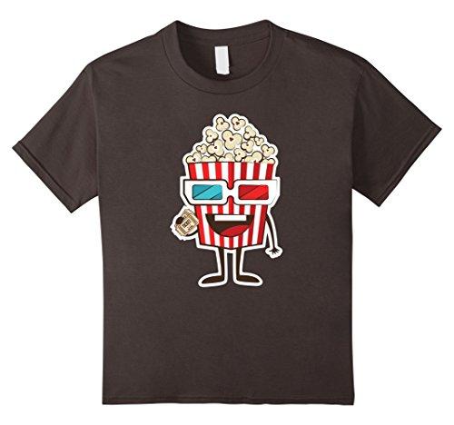 Popcorn Tee (Kids Movie And Popcorn T-Shirt 8 Asphalt)