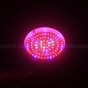 LED Wholesalers 2506RBOW Blue/Red/Orange/White 90 x 1 Watt LED High Power Round Grow Light