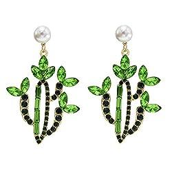 Cactus Crystal Earrings for Women