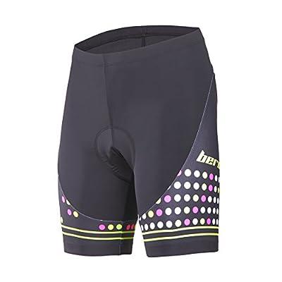 Beroy Cycling Women's Shorts,Cute Bike Shorts with 3D Padding