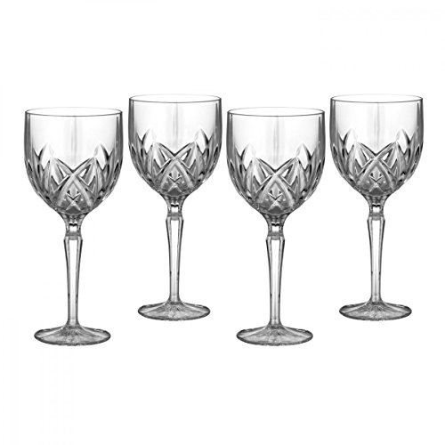Marquis by Waterford Brookside 8-Ounce White Wine Glass, Set of 4 (Faceted White Crystal)