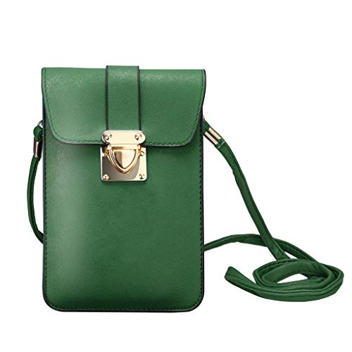 Bolsa Mujer Color Verde Teléfono Hombro Multifuncional Casual Bolso Móvil Moda Pequeño Sylar Bandolera Sólido De Retro q1wzFSUx