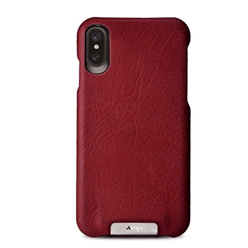 new product 85445 3f6e9 Vaja Grip Leather Case for iPhone X - Hard Polycarbonate Frame, Wireless  Charging Compatible - Bridge Chili - Bridge London