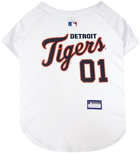 Pets First MLB Detroit Tigers Dog Jersey, Medium