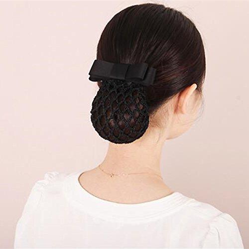 usongs New layering bow Tousheng hotel Bank net bag nurse hairnet hair accessories hairpin women girls cashier -