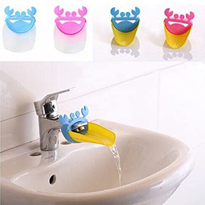 DUOMI Crab Shape Cartoon Bathroom Sink Faucet Extender for Children Toddler Kids Hand Washing