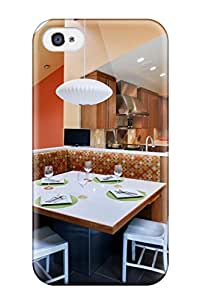 Premium Durable Contemporary Breakfast Nook With Banquette Seating And Vaulted Ceiling Fashion Tpu Iphone 4/4s Protective Case Cover 1580593K22968258