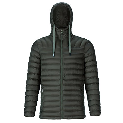 HHY-Pure color down cotton jacket, warm big code rib coat, men's cotton padded coat,Army green,3XL