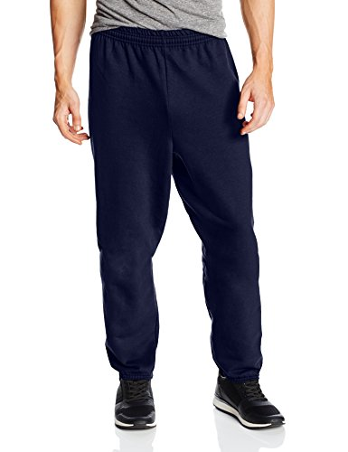 Hanes Men's EcoSmart Fleece Sweatpant, Navy, Large (Pack of 2) ()