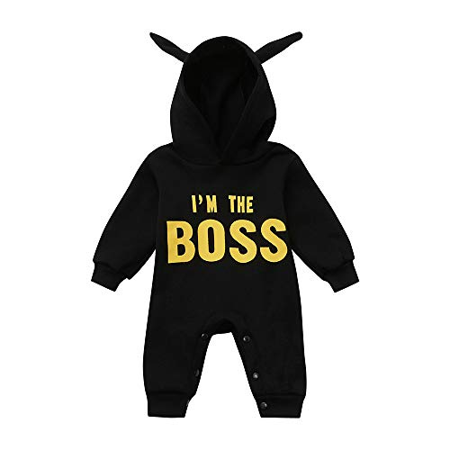 WOCACHI Toddler Baby Boys Clothes, Toddler Kids Baby Letter Boys Girls Hoodie Outfits Clothes Romper Jumpsuit 2019 Spring Summer Under 5 Deals Allowance Campaign by WOCACHI (Image #1)