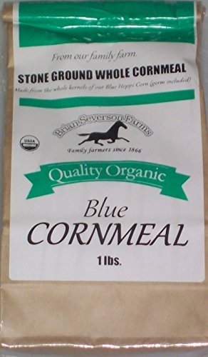 Organic Blue Hopi Cornmeal, 5 lbs., Fresh Stone Ground, Farmer Direct, non-GMO (5 lb)