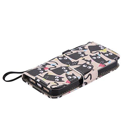 Laoke - Carcasa de silicona para teléfono móvil, cubierta pintada para iPhone 5/5S/SE de Apple + protector contra el polvo blanco 12 11